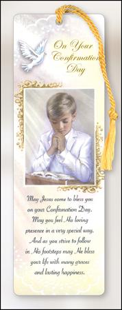 F8013 Bookmark – Confirmation Boy