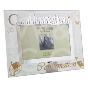 GLASS PHOTO FRAME - CONFIRMATION 6 X 4 INCH