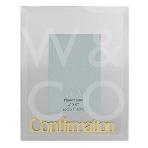 MIRROR FRAME GOLD 3D WORDS 4 X 6 INCH - CONFIRMATION