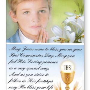 First Holy Communion Prayer Card Boy