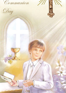 Communion Boxed Card Boy