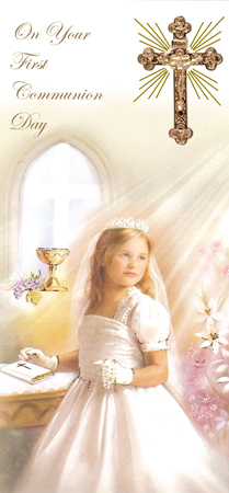 Communion Boxed Card Girl