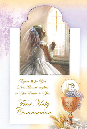 Communion Card Girl Granddaughter