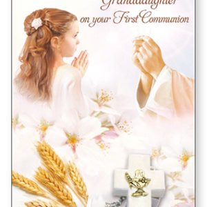 Communion Card Granddaughter