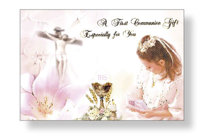 Communion Card Girl Money Wallet