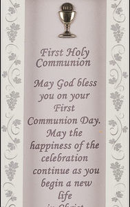 First Communion Glass Plaque - Symbolic