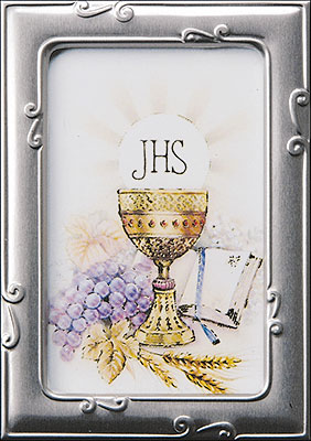 First Communion Photo Frame Symbolic