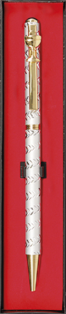 First Communion Pen Chalice Motif Gold Silver