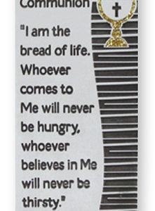 First Communion Metal Plaque - Pewter Finish - Symbolic