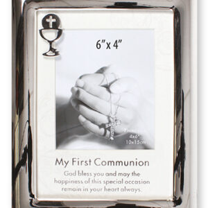 First Communion Photo Frame Polished Silver Finish