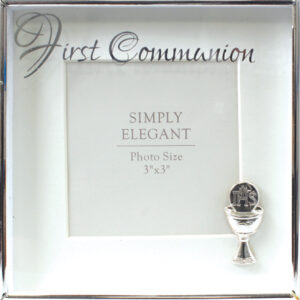 First Communion Photo Frame Silver Finish