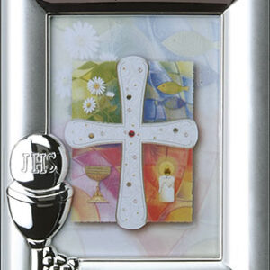 First Communion Photo Frame Silver Plated Finish