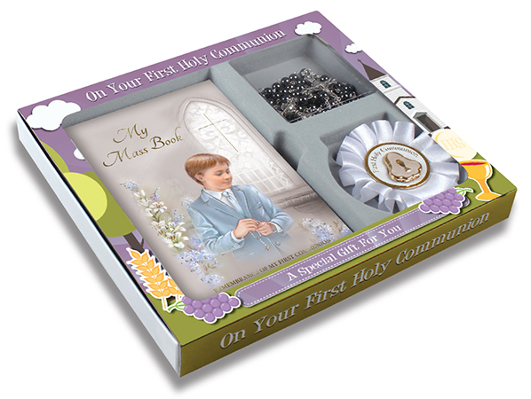 First Communion Gift Set Boy - Saint