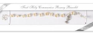 Communion Rosary Bracelet Glass
