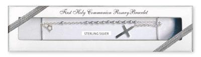 Communion Rosary Bracelet Sterling Silver