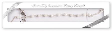 Communion Rosary Bracelet - Acrylic AB - with Chalice & Crucifix