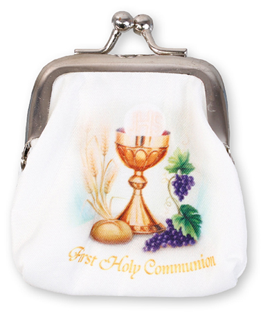 Communion Rosary Case with Clasp - White