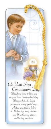 First Communion Bookmark - Boy