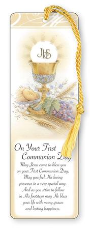 First Communion Bookmark - Symbolic