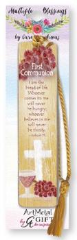 First Holy Communion Metal Art Bookmark - Symbolic