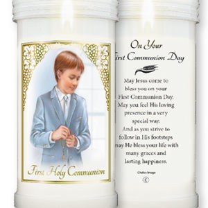 Pillar Candle First Holy Communion Boy