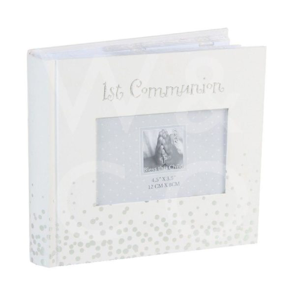 SILVER DOTS PHOTO ALBUM – 1ST COMMUNION 6″ X 4″ 1