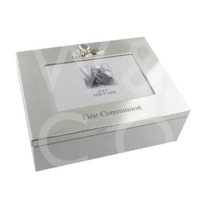 KEEPSAKE BOX & FRAME LID - FIRST COMMUNION